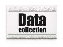 Ewidencyjny pojęcie: nagłówka prasowego gromadzenie danych ilustracji