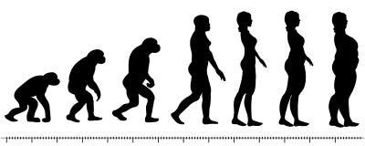 Ewoluci kobieta royalty ilustracja