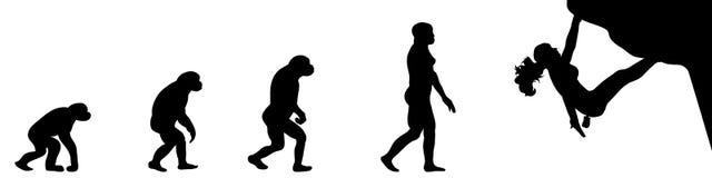 Ewoluci kobieta bouldering ilustracji