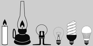 Ewoluci oświetleniowa lampa royalty ilustracja
