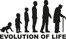 Ewolucja życie royalty ilustracja