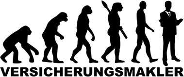 Ewolucja Asekuracyjny agent niemiec royalty ilustracja