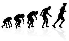 Ewolucja biegacz Zdjęcia Royalty Free