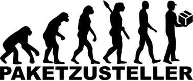 Ewolucja doręczeniowy mężczyzna niemiec ilustracji