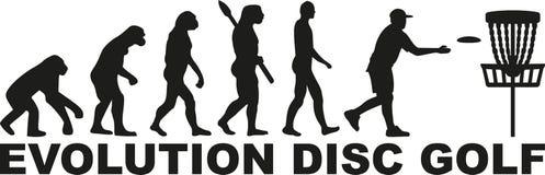Ewolucja dyska golf royalty ilustracja