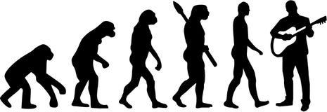 Ewolucja gitara akustyczna gracz royalty ilustracja