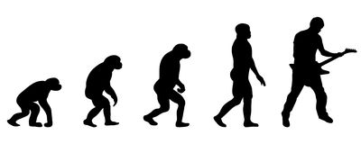 Ewolucja gitarzysta ilustracji