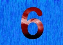 Ewolucja glif dla liczby 6 Obrazy Royalty Free