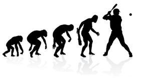 Ewolucja gracz baseballa Zdjęcia Royalty Free