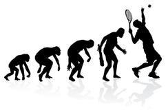 Ewolucja gracz w tenisa Zdjęcia Royalty Free