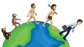 Ewolucja istota ludzka na ziemi ilustracja wektor