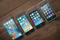 Ewolucja Jabłczany iPhone Obrazy Stock