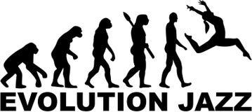 Ewolucja jazzu taniec royalty ilustracja