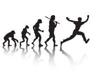 Ewolucja ludzie biegać ilustracja wektor