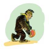 Ewolucja mężczyzna małpa royalty ilustracja