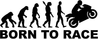 Ewolucja motocykl Urodzony ścigać się ilustracji