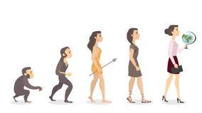 Ewolucja nauczyciel royalty ilustracja