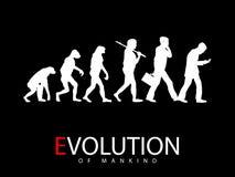 Ewolucja od małpy ogólnospołeczny środka nałogowiec Fotografia Royalty Free