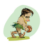 Ewolucja pierwotny mężczyzna ilustracji