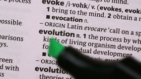 Ewolucja podkreślająca w zieleni zdjęcie wideo