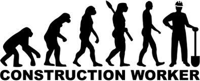 Ewolucja pracownik budowlany ilustracji