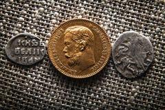 Ewolucja Rosyjskie monety Obraz Stock