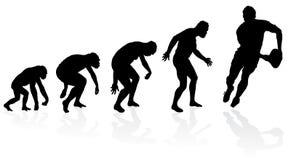 Ewolucja rugby gracz royalty ilustracja