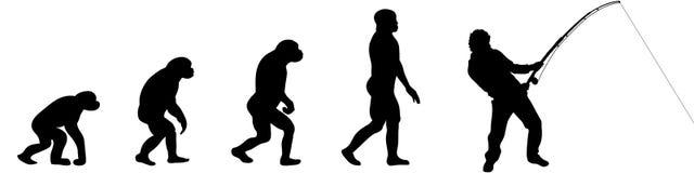 Ewolucja rybak ilustracja wektor