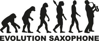 Ewolucja Saksofonowy gracz royalty ilustracja