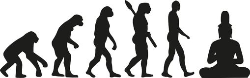 Ewolucja siedzi Buddha ilustracji