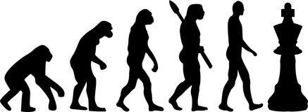 Ewolucja szachy ilustracji