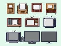 Ewolucja telewizje royalty ilustracja