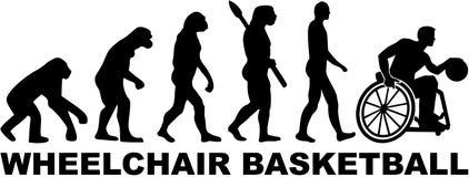 Ewolucja wózka inwalidzkiego koszykówka ilustracja wektor