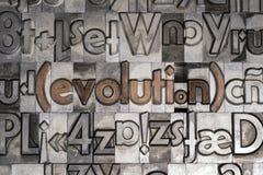 Ewolucja z movable typ druk Zdjęcia Royalty Free
