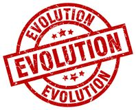 Ewolucja znaczek royalty ilustracja