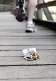 Exécutez à partir du tobaco Photos stock