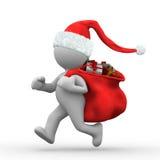 Exécutez Santa illustration stock
