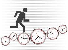 Exécutez sur des horloges illustration de vecteur