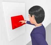 Exécutif et message publicitaire de contrôle de With Switch Shows d'homme d'affaires Image libre de droits
