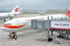 Exécution d'aéroport de Hongqiao, Changhaï, Chine Photographie stock libre de droits