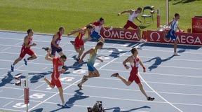 Exécution d'athlètes de Decathlon Image libre de droits