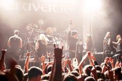 Exécution d'Eluveitie vivante au club Photographie stock