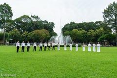 Exécution dans le palais de l'indépendance photo stock