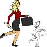 Exécution de femmes de Bussiness illustration de vecteur