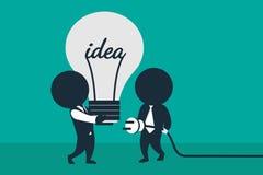 Exécution de l'idée Team le travail illustration stock