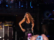 Exécution de Mariah Carey Image libre de droits