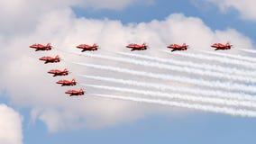 Exécution de RAF Red Arrows photo stock