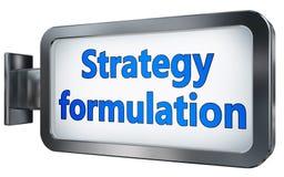 Exécution de stratégie sur le panneau d'affichage illustration de vecteur