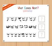 Exécution du jeu éducatif de modèle pour les enfants préscolaires illustration de vecteur