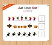 Exécution du jeu éducatif de modèle pour les enfants préscolaires illustration stock